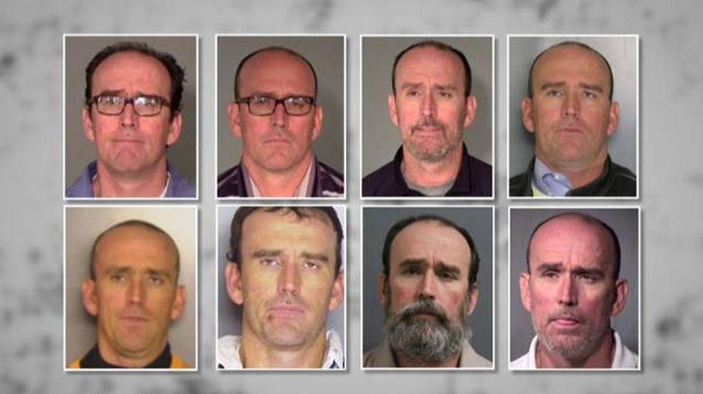Foto: Las 8 fotografías de ficha policial que acumuló el misterioso hombre.