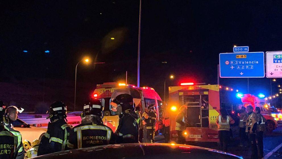 Seis heridos al chocar una furgoneta y un autobús de la EMT en Madrid