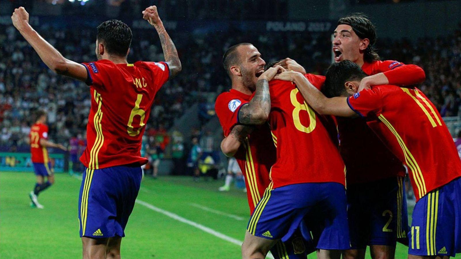 Foto: España Sub-21 venció anoche a Italia. (Mediaset)