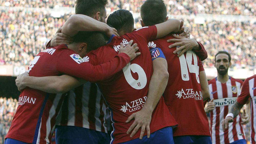 Foto: El Atlético de Madrid cuenta con once fijo, prácticamente sin rotaciones en Liga (Efe).