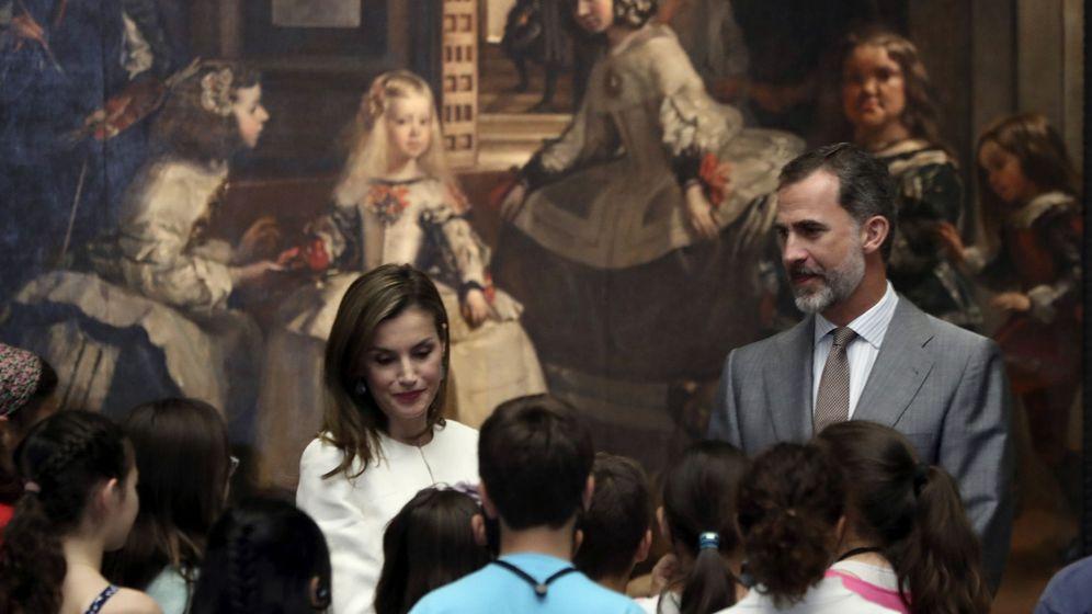Foto: Los reyes Felipe y Letizia en un acto en el Museo del Prado. (EFE)