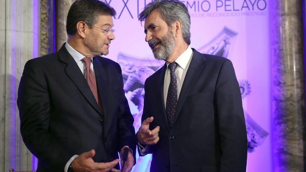 Foto: Rafael Catalá, ministro de Justicia, y Carlos Lesmes, presidente del Consejo General del Poder Judicial. (EFE)