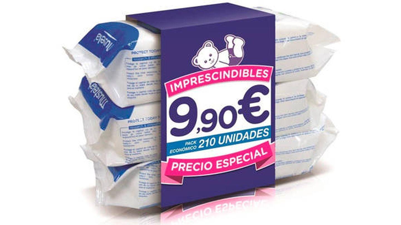 Pack de 3 paquetes de toallitas húmedas Mustela