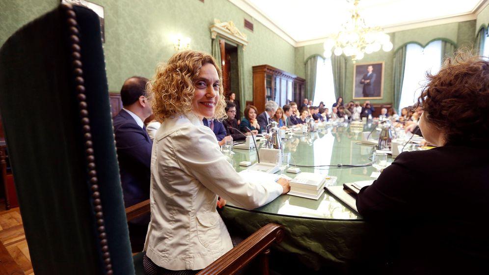 Foto: La presidenta del Congreso en la anterior legislatura, la socialista Meritxel Batet, durante una reunión de la Mesa. (EFE)