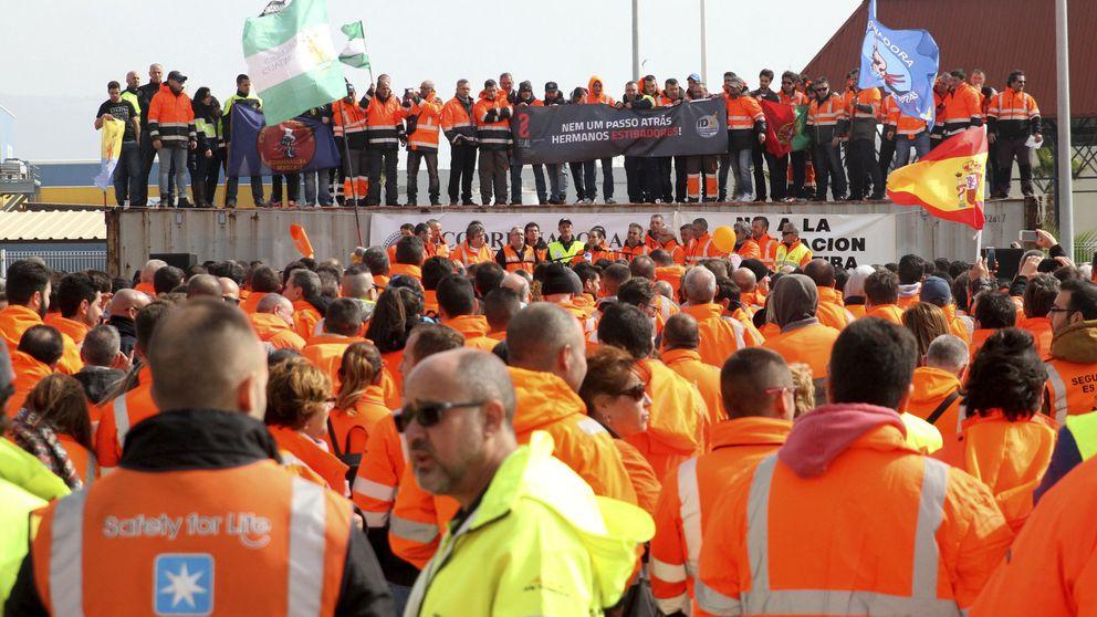 Los estibadores irán a la huelga durante nueve días si Fomento no retrasa la reforma