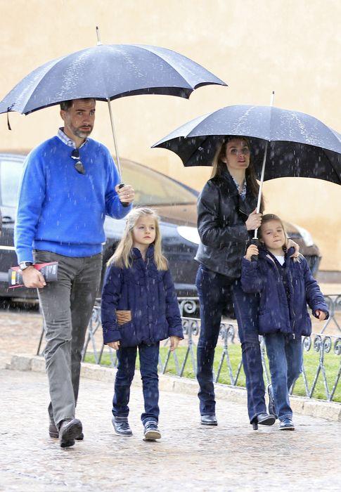 Los príncipes y las infantas en Almagro la pasada Semana Santa (Gtres)