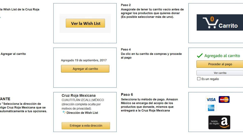 Pasos a seguir para ayudar desde Amazon.