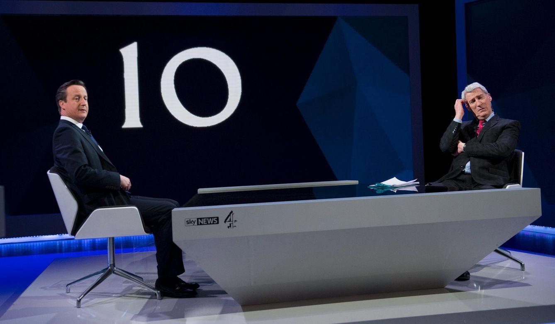 Foto: El 'premier' David Cameron durante su reciente entrevista con Jeremy Paxman en Sky News (Reuters).
