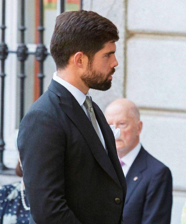 Foto: Fernando Palazuelo, en la boda de los duques de Huéscar. (EFE)