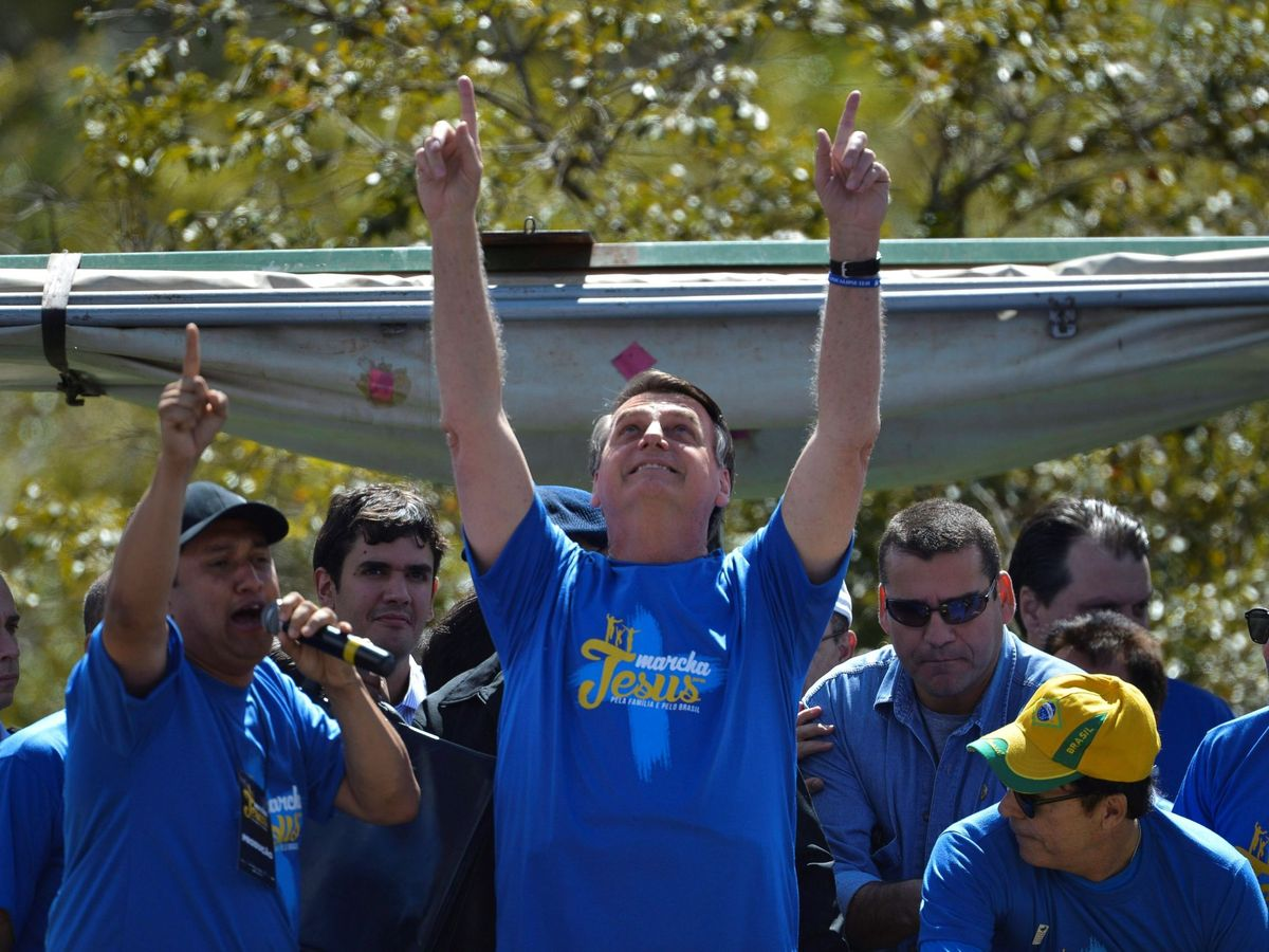 Foto: Jair Bolsonaro en la marcha de Jesús el año pasado. (EFE)