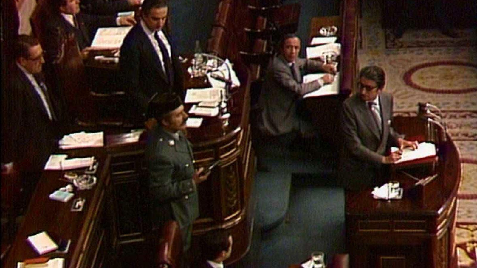 Foto: Un momento del intento de golpe de Estado del 23 de febrero de 1981.
