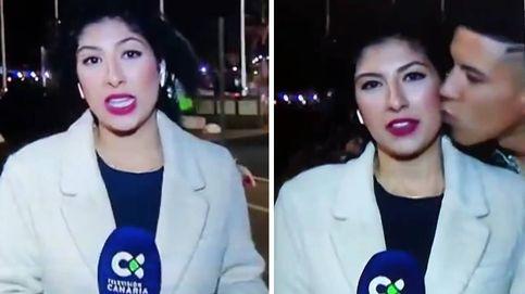 Condenado por abuso sexual el joven que besó, en directo, a una reportera canaria