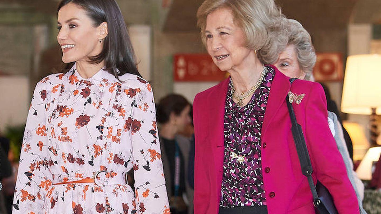 La reina Letizia y la reina Sofía en una imagen de archivo. (Limited Pictures)