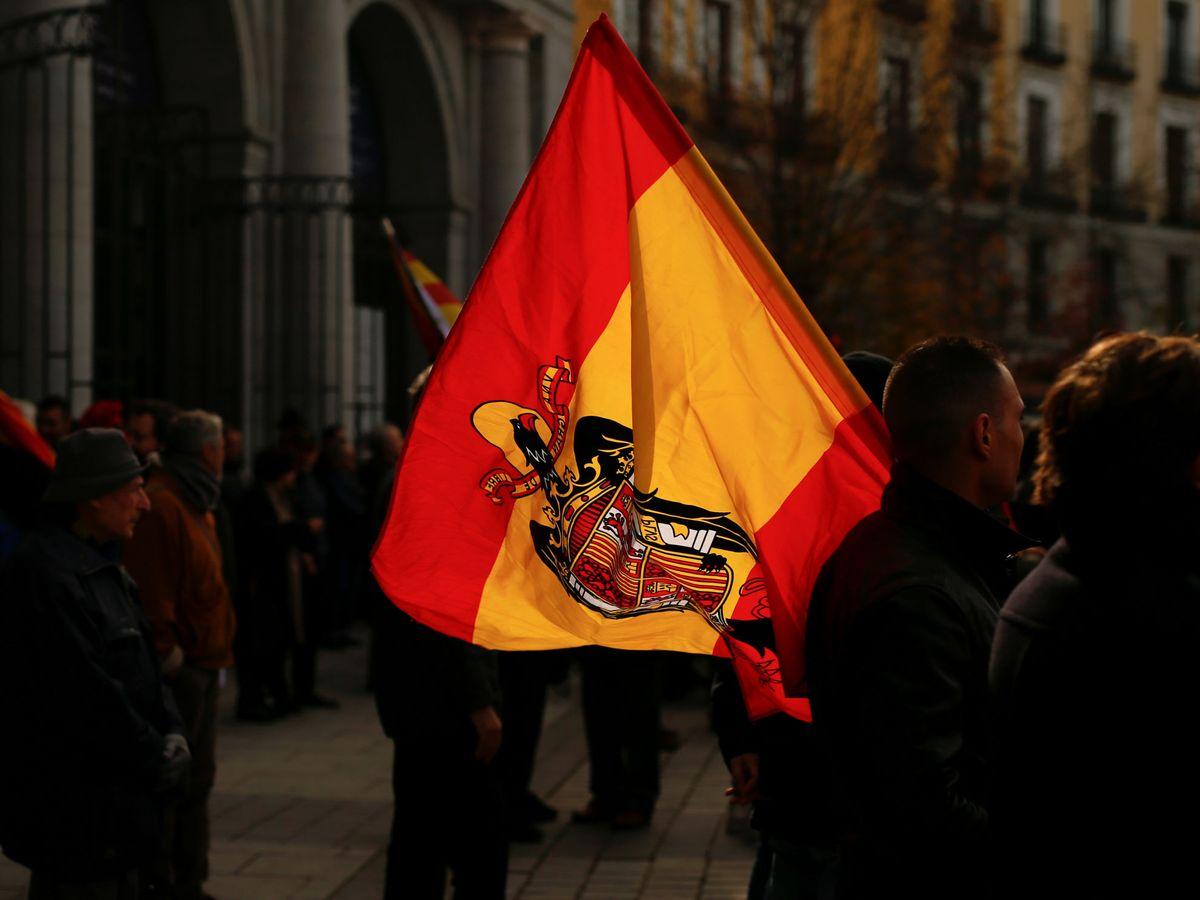 Foto: Manifestación en Madrid por el aniversario de la muerte de Franco, en 2019. (Reuters)