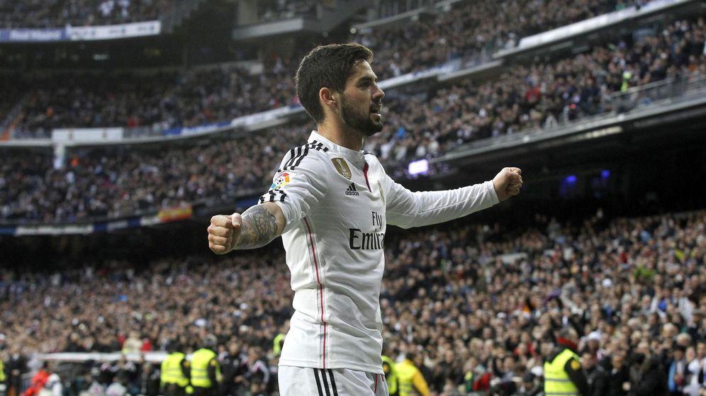 Foto: Isco celebra un gol en el Bernabéu (Efe)