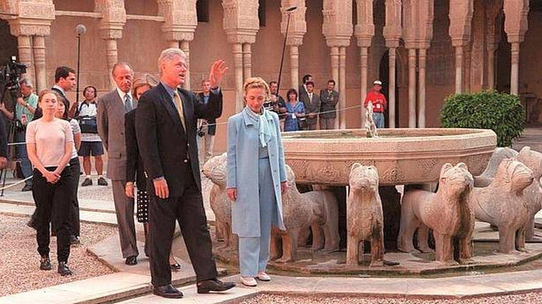 Bill Clinton, en su visita a la Alhambra de Granada en 1997.