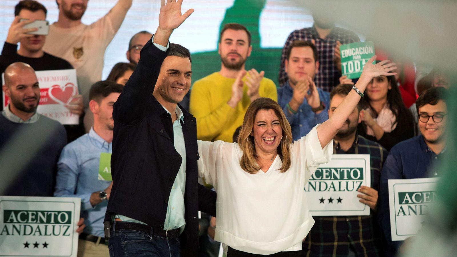 Foto: Pedro Sánchez y Susana Díaz, en un acto de noviembre de 2018. (EFE)