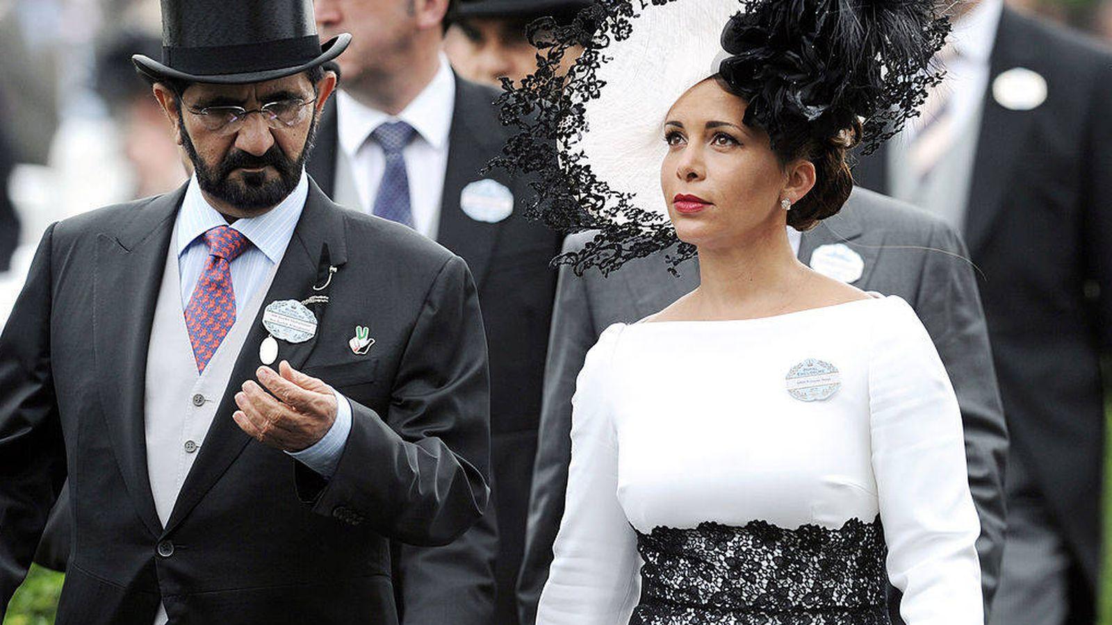 Foto: La princesa Haya y su esposo, Sheikh Mohammed Bin Rashid Al Maktoum, en una imagen de archivo. (Getty)