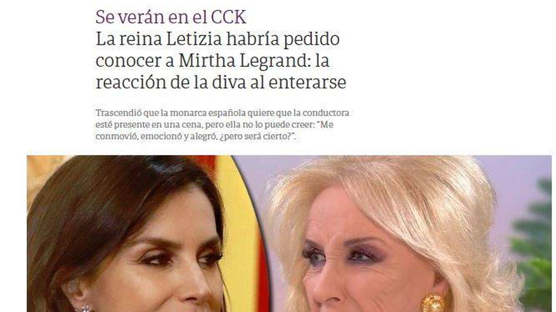 Imagen de la web de 'Clarín'.