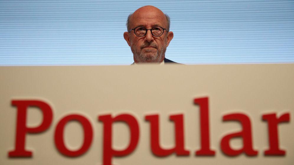 Foto: El presidente del Banco Popular, Emilio Saracho, en la junta de este lunes. (Reuters)