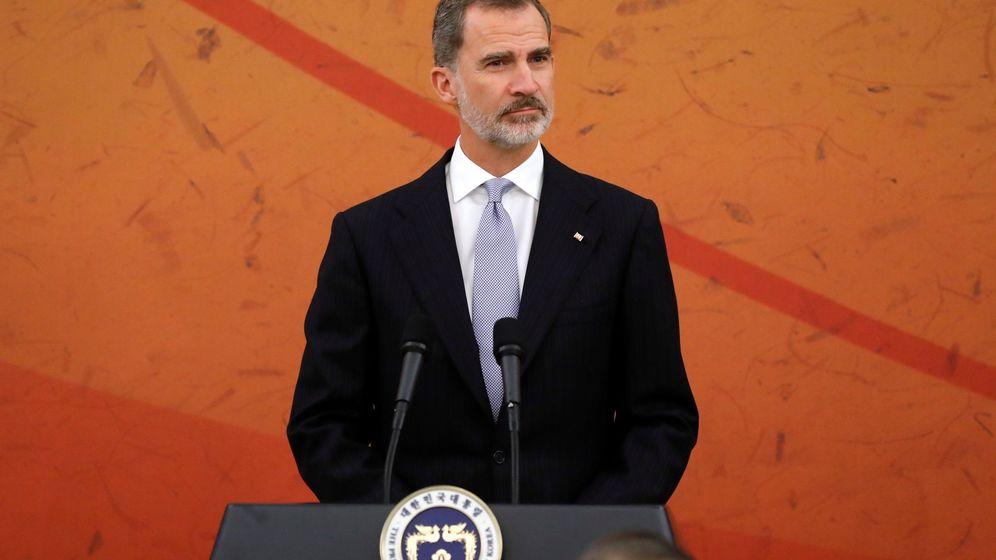 Foto: El rey Felipe, en Corea del Sur. (EFE)