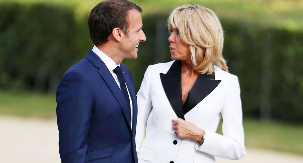 Foto: Los Macron en una imagen de archivo. (Cordon Press)