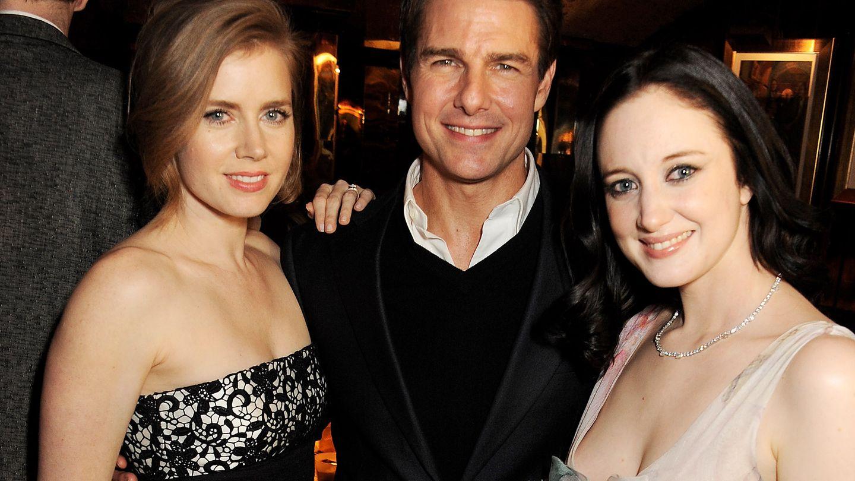 Amy Adams, Tom Cruise y Andrea Riseborough (Annabel's)