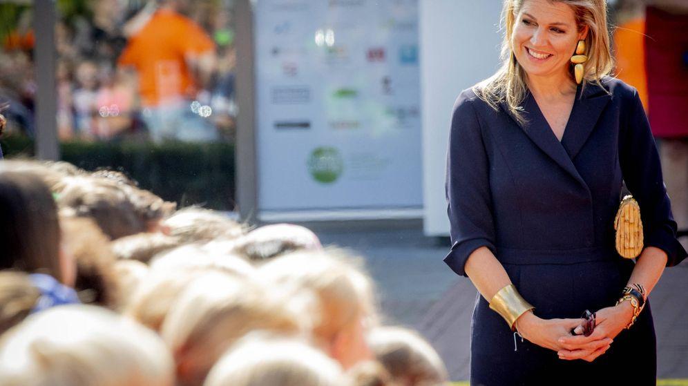 Foto: La reina Máxima en su acto de este miércoles. (Gtres)