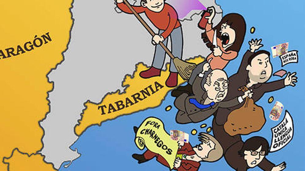 Foto: Cartel de Tabarnia. (bcnisnotcat)