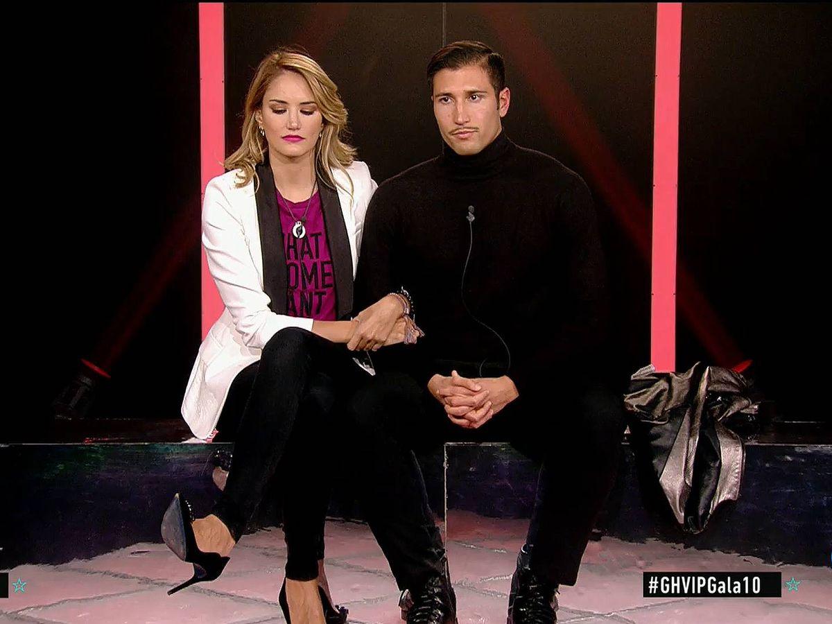 Foto: Alba Carrillo y Gianmarco, en 'GH VIP 7'. (Telecinco)