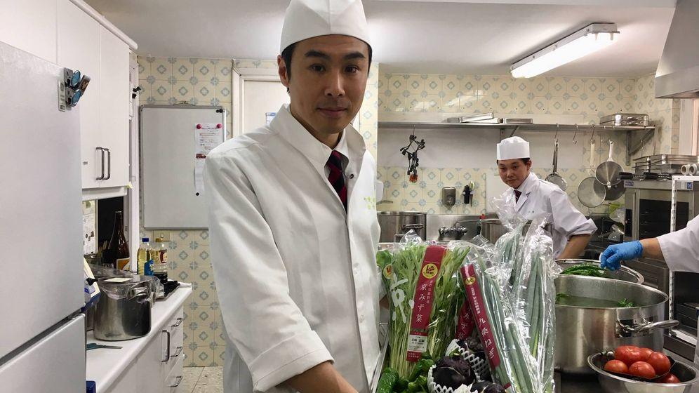 Foto: El chef Youji Satake, ayer en Madrid.