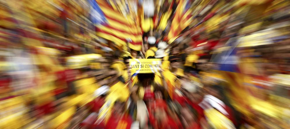Foto: Manifestacion a favor de la consulta soberanista en Barcelona. (EFE)