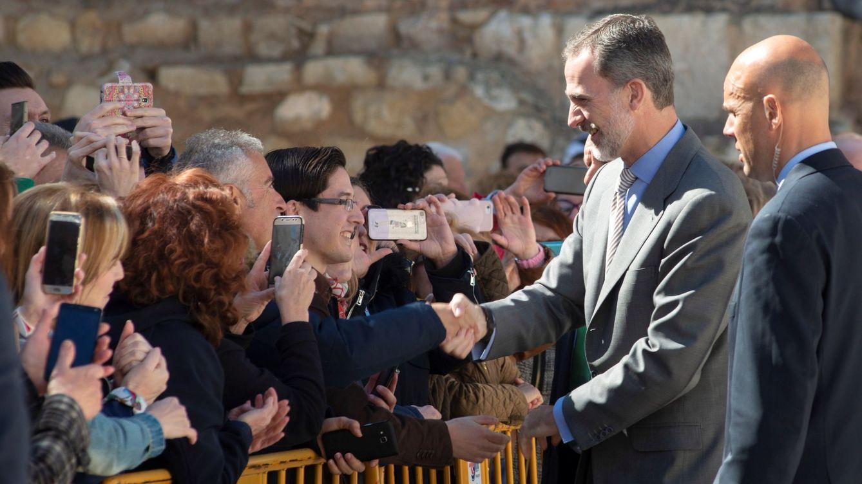 Foto: Felipe VI, en unas jornadas agrícolas en Jaén. (EFE)