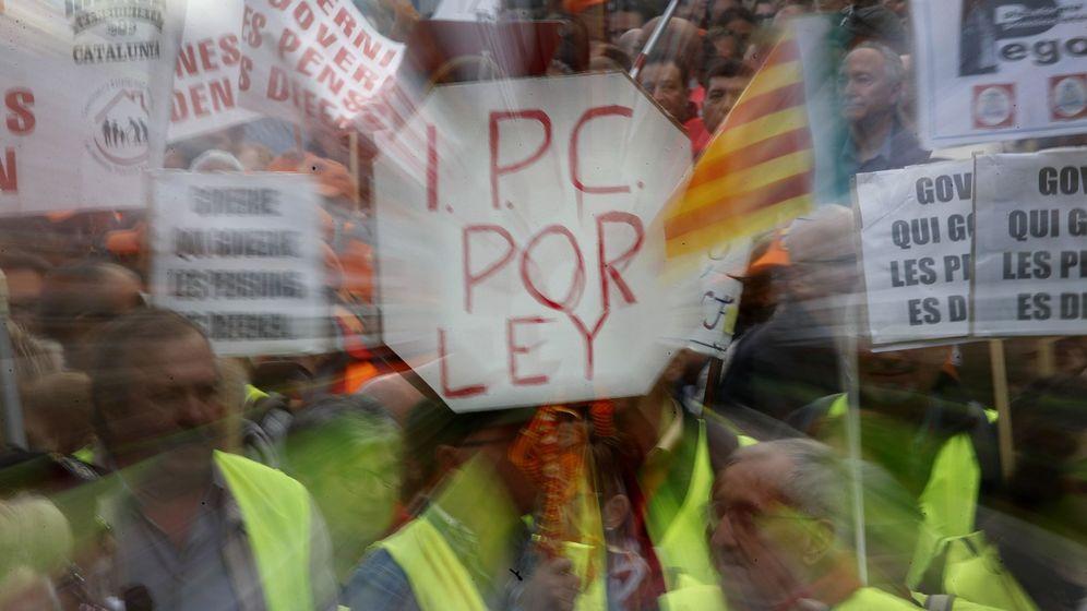 Foto: Manifestación por la defensa de las pensiones. (EFE)