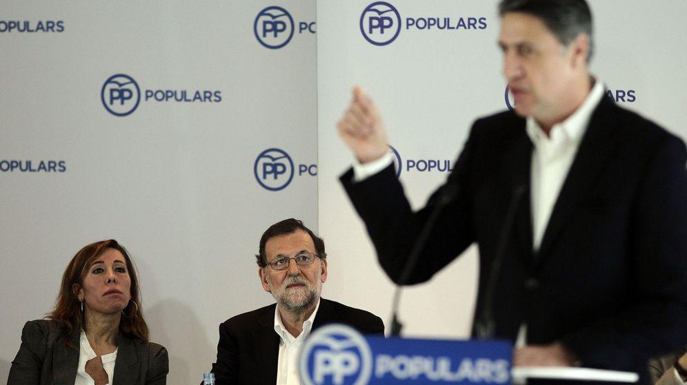 Foto: Rajoy y Sánchez-Camacho escuchan la intervención de Albiol. (EFE)