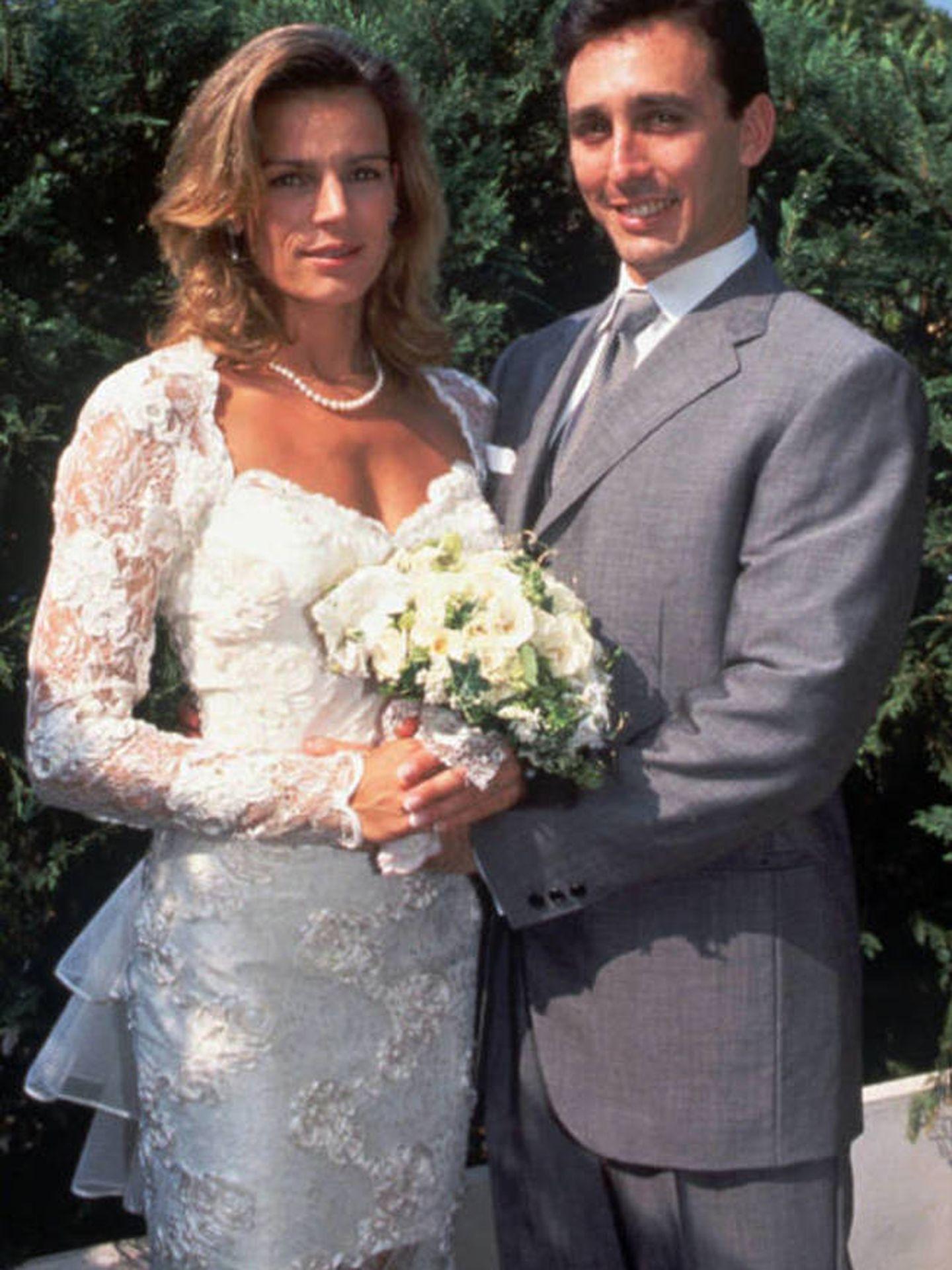 Estefanía de Mónaco y Daniel Ducruet, en su boda. (Palacio de Mónaco)