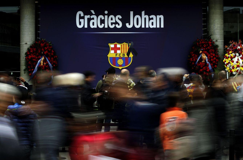 FC Barcelona: El Barcelona y el Ajax dan el último adiós a Johan Cruyff
