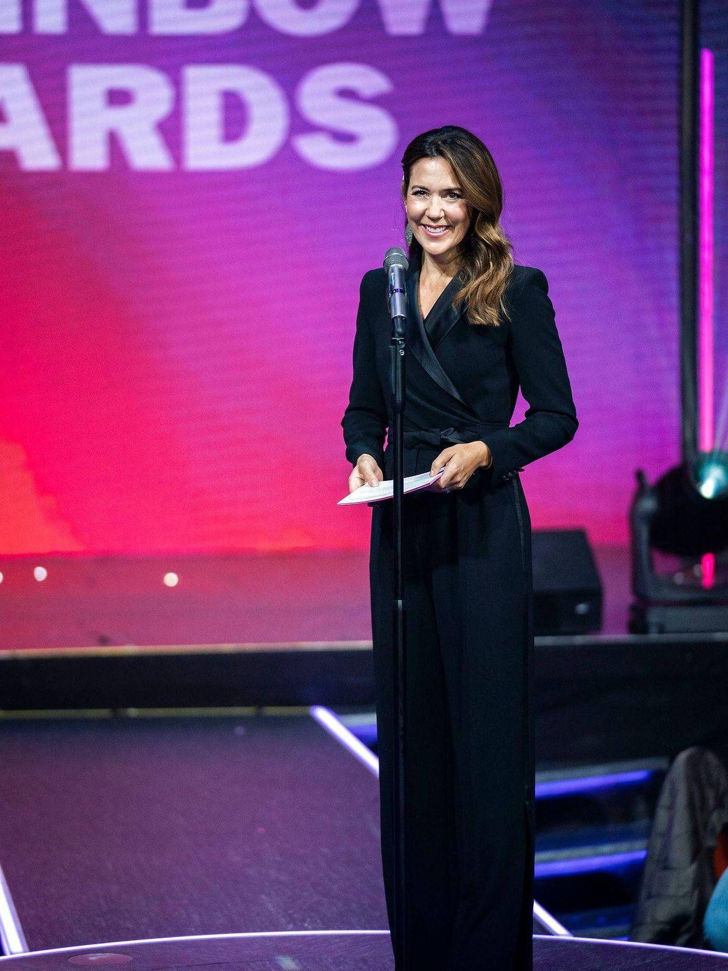 Mary de Dinamarca, en los Rainbow Awards. (Casa Real de Dinamarca)