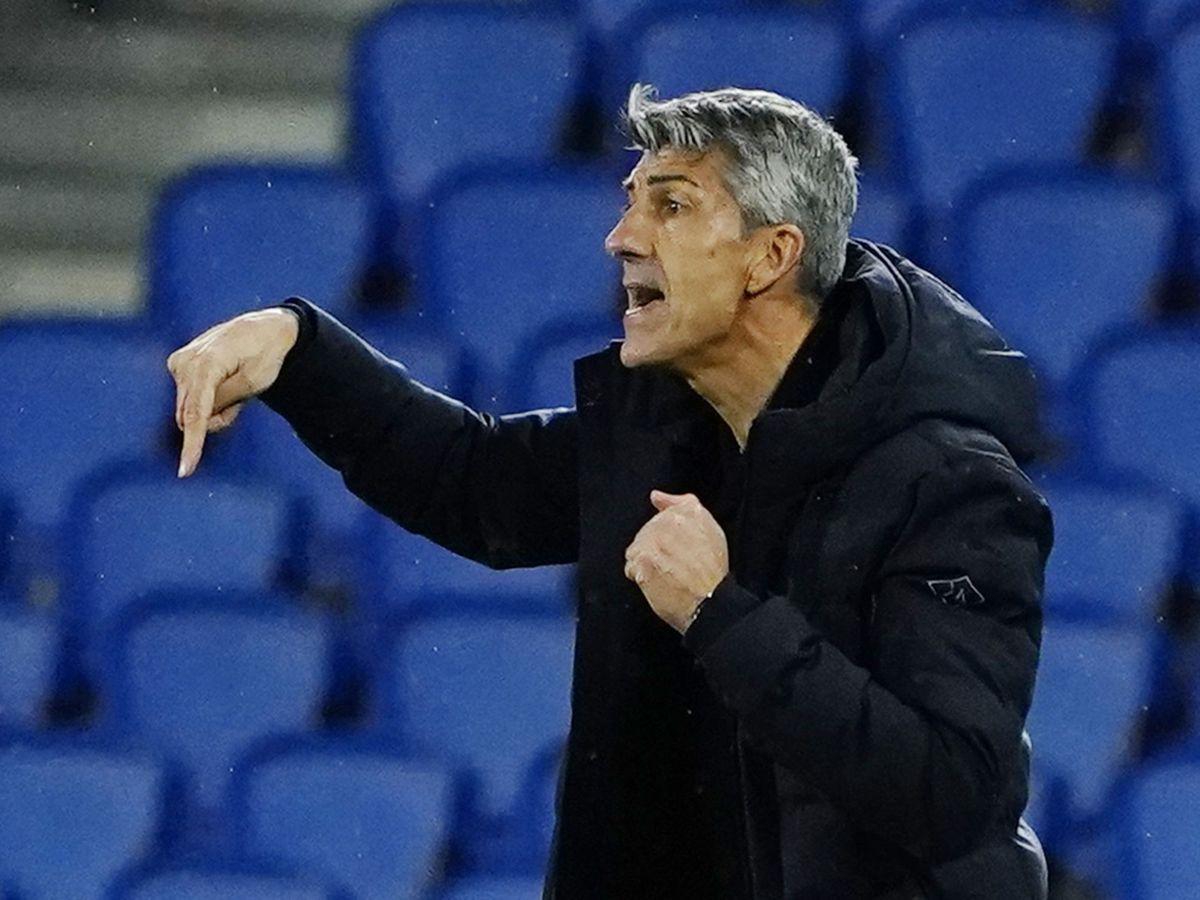 Foto: Imanol, durante el partido de la Real Sociedad contra el Rijekta en Anoeta. (REUTERS)