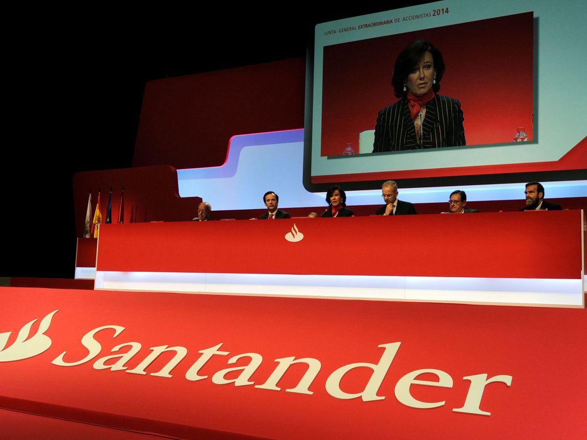 Foto: Ana Botín durante un encuentro extraordinario del banco. (Reuters)