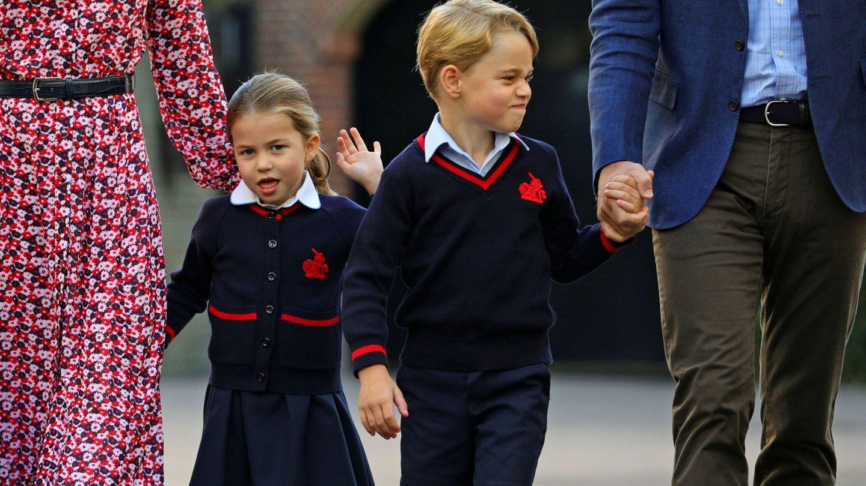 George y Charlotte. (Reuters)