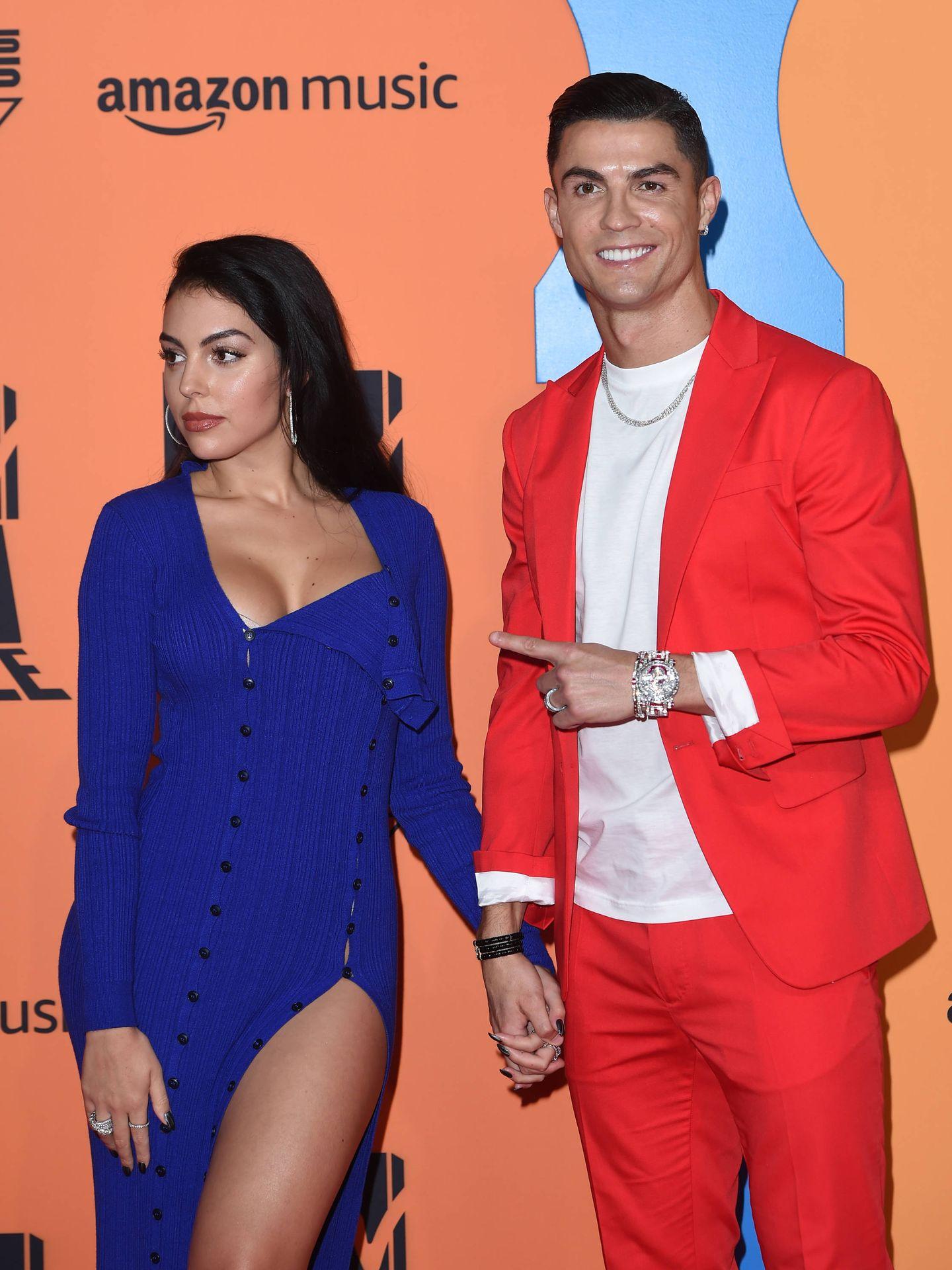 Cristiano y Georgina, en los MTV EMAs 2019. (Getty)