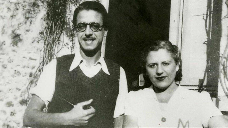 Mercè Rodoreda con su pareja, Armand Obiols