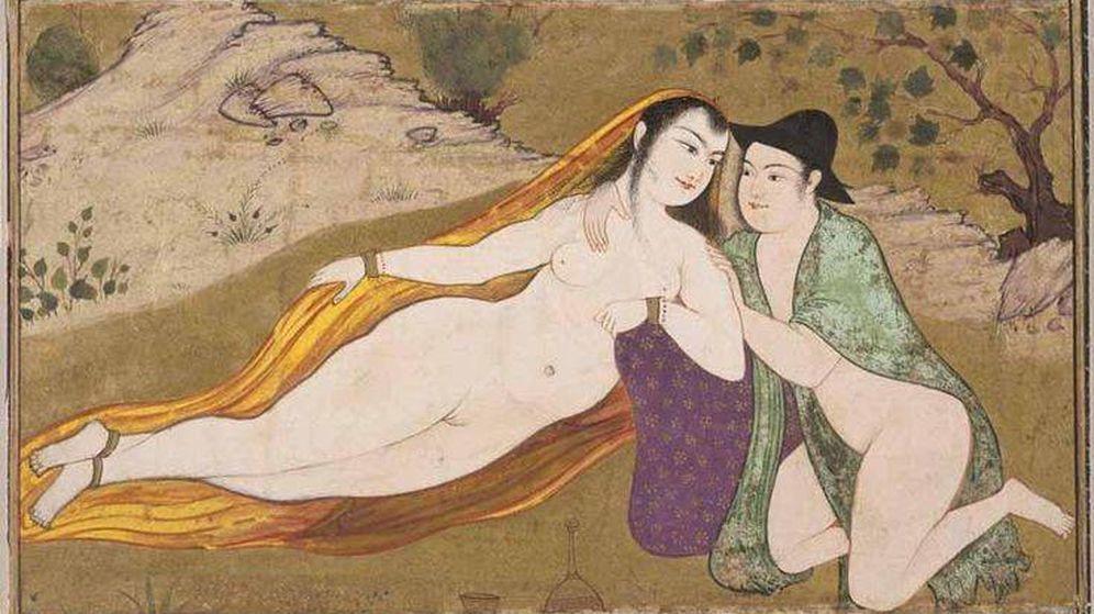 Foto: Miniatura erótica persa de 1630.