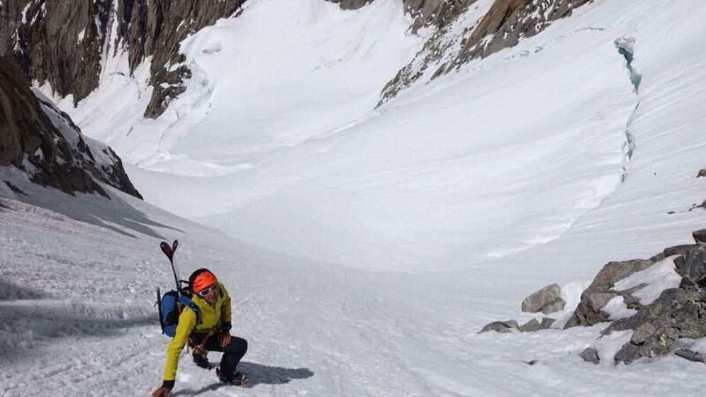 Foto: Kilian Jornet en una de sus escaladas (Press Lymbus/EFE)