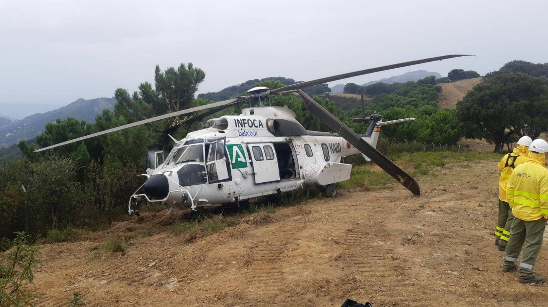 Imagen del helicóptero accidentado. (El Confidencial)