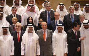 El Rey comienza su gira con los empresarios con las renovables de fondo