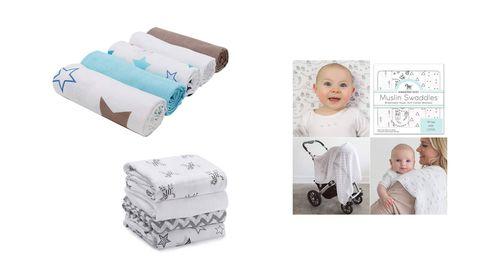 Las mejores muselinas para arrullar a tu bebé y que se sienta protegido