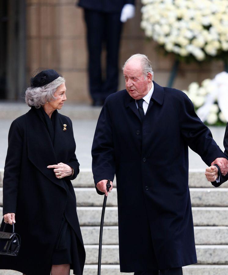 Foto: Don Juan Carlos y doña Sofía en el funeral del gran duque Jean de Luxemburgo. (Reuters)