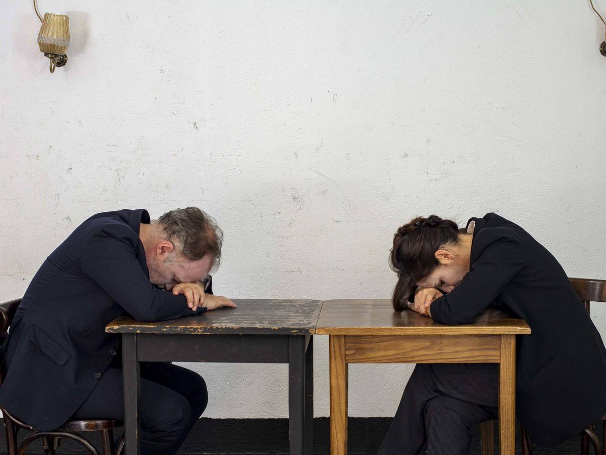Foto: Luis Bermejo y Malena Alterio, en 'Los que hablan'. (Laura Ortega)